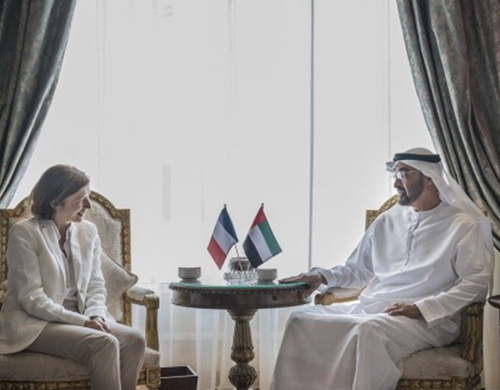 Abu Dhabi Crown Prince Receives French Armed Forces Minister