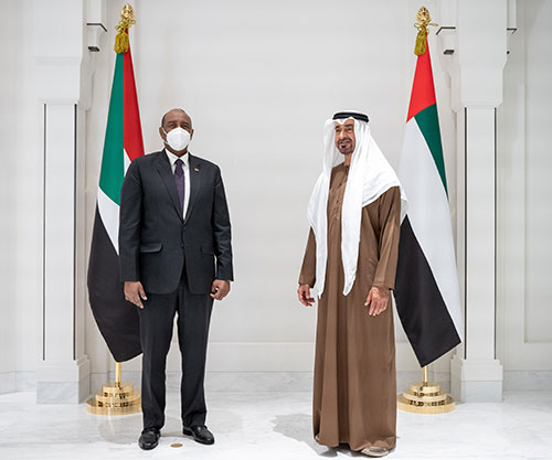 Abu Dhabi Crown Prince Receives Sudan's Head of Transitional Military Council