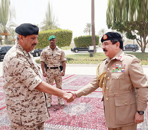 Bahrain's King Hails Defense Force's Efforts to Combat COVID-19