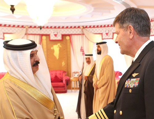 Bahrain's King Meets US Vice Chief of Naval Operations