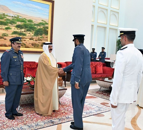 Bahrain's King Receives BIAS Organizing Military Committee