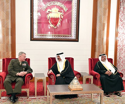 Bahrain's King Receives US Central Command Commander