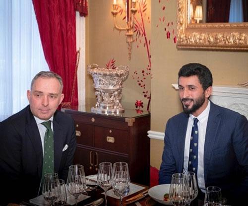 Bahrain's National Security Advisor Meets British Counterpart