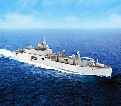 Construction Starts for French Navy's First Replenishment Vessel, in Cooperation with Naval Group