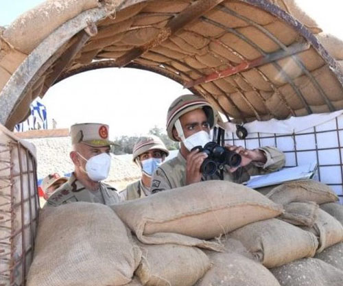Egyptian Chief-of-Staff Inspects Military Fields, Training Points in North Sinai