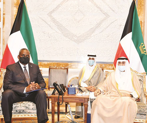 Emir of Kuwait Receives US Secretary of Defense