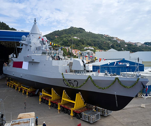 Fincantieri Launches Second 'Sheraouh' OPV in a Triple Event for Qatar