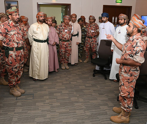 Head of Oman's National Defense College Tours Swift Sword 3