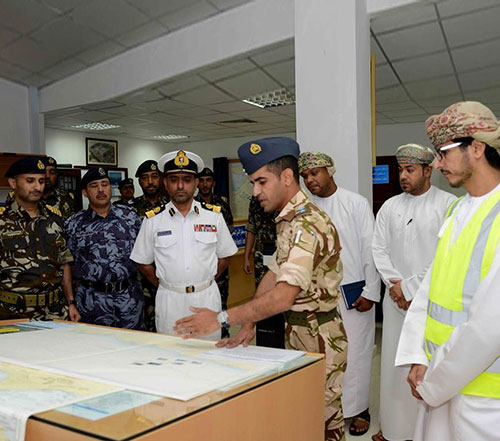 Italian, US Delegations Visit Oman's Maritime Security Center