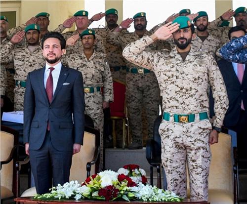 Jordanian Crown Prince Visits Bahrain's Royal Guard Headquarters