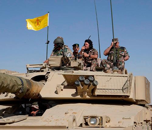 Jordanian King Attends Military Drill