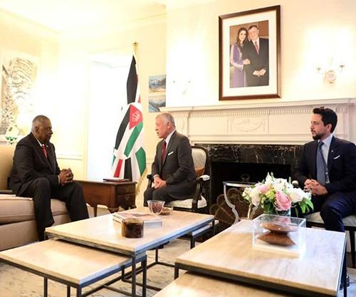 Jordanian King Meets U.S. Defense Secretary, U.S. Secretary of Homeland Security