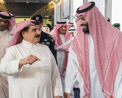 Saudi Minister of Defense Receives King of Bahrain
