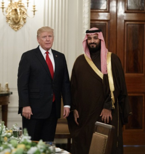 Saudi Deputy Crown Prince Meets Donald Trump