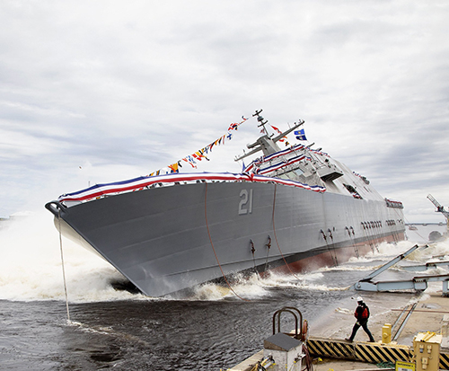 Lockheed Martin-Led Team Launches Littoral Combat Ship 21