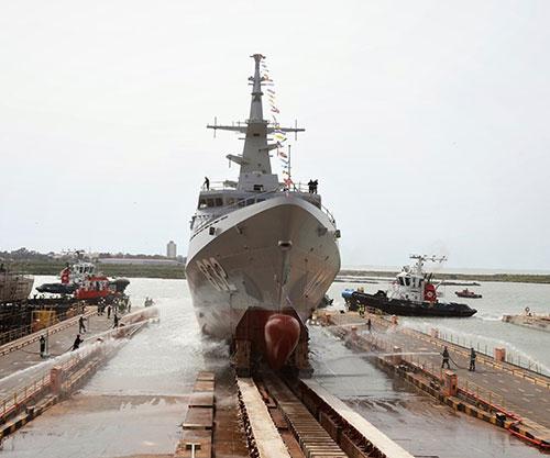 Navantia Launches Third Corvette for Royal Saudi Naval Forces