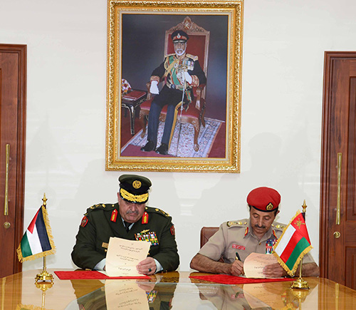 Oman, Jordan Sign MoU in Military Cooperation