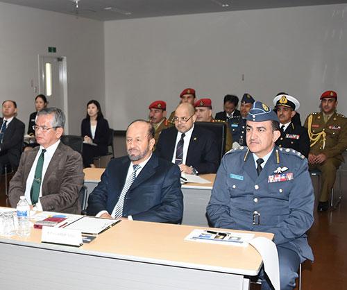 Oman's Defense Minister Visits Narashino Air Base in Japan