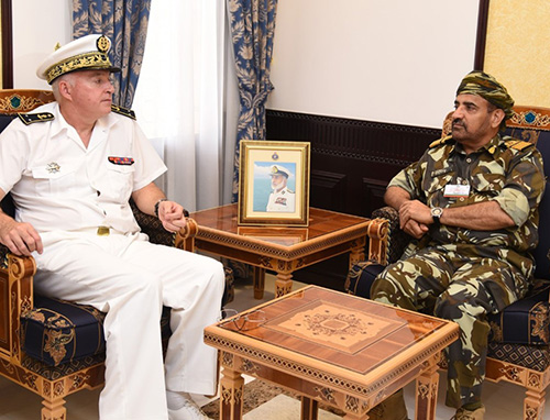 Oman's Navy Commander Receives French Rear Admiral