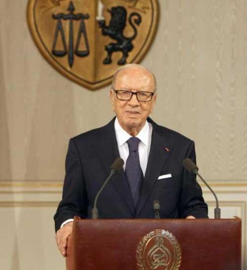 Tunisian President Receives Arab Interior Ministers