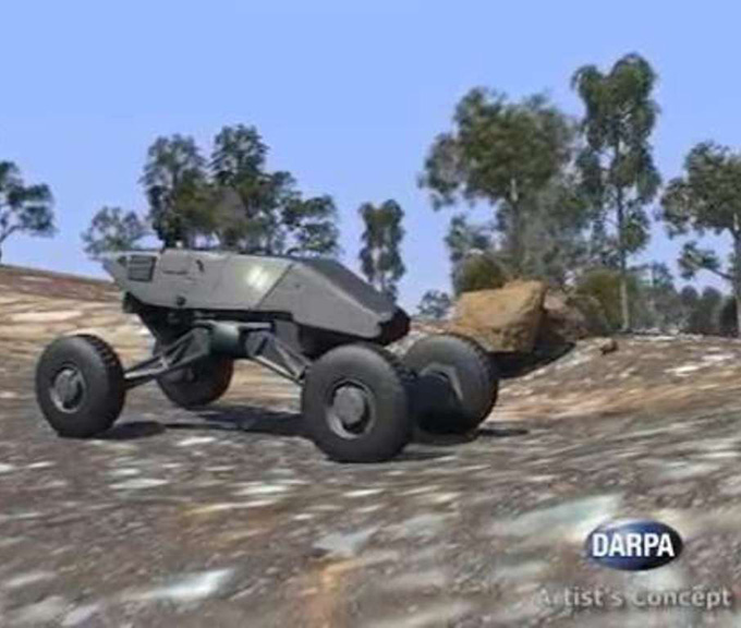 Artist's concept of DARPA's Ground X-Vehicle Technologies (GXV-T)