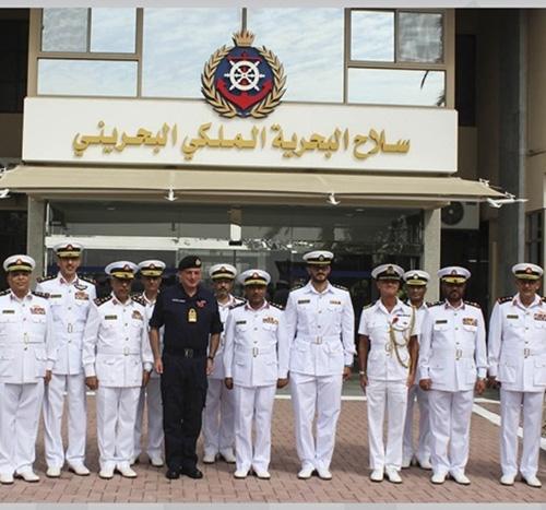 Royal Bahrain Naval Force Receives British Navy Chief