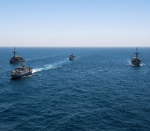 Saudi, UK, US Navies Conclude Mine-Hunting Countermeasures Training