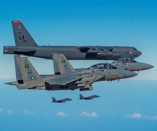 Saudi 515-SA Fighters, US B52 Bombers Conduct Bilateral Exercise