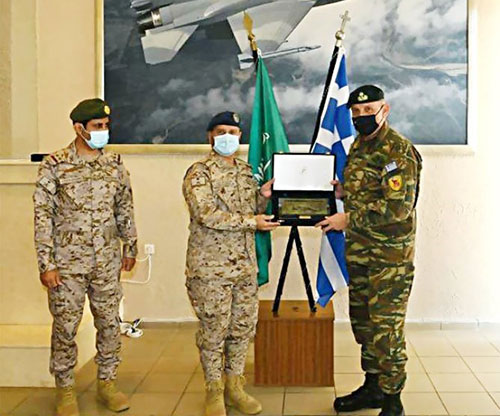Saudi Chief of General Staff Meets Greek Counterpart at 'Falcon Eye 1' Drill