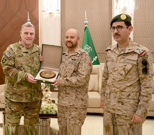 Saudi Chief-of-Staff Receives US Counterpart