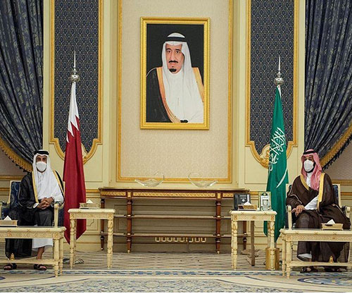 Saudi Crown Prince, Emir of Qatar Hold Talks in Jeddah