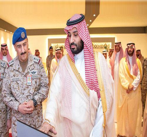 Saudi Crown Prince Lays Cornerstone For Air War Center