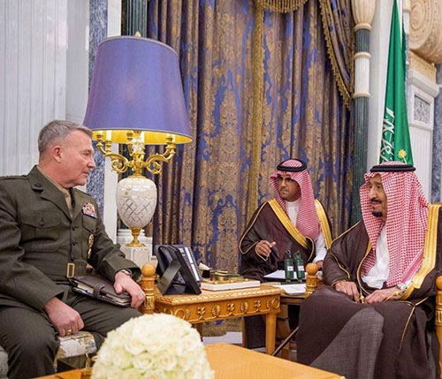 Saudi King, Crown Prince Receive Commander of US Central Command