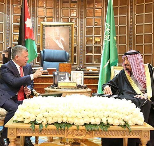 Saudi King, Crown Prince Receive Jordan's King
