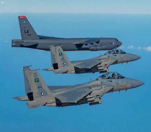 Saudi Warplanes Escort US B-52 Strategic Bombers
