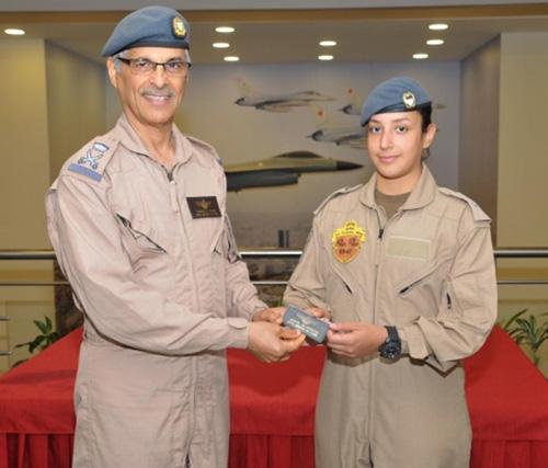 Shaikha Aisha bint Rashid Joins Royal Bahrain Air Force