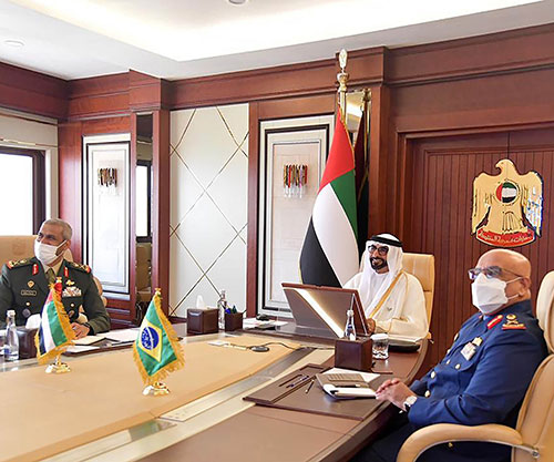 UAE Defense Minister, Brazilian Counterpart Discuss Relations