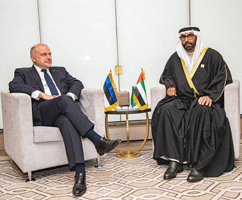UAE Defense Minister Receives Estonian Counterpart