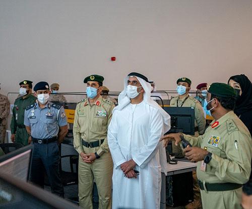UAE Interior Minister Attends Strategic Training Drills at Expo 2020 Site