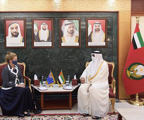 UAE Minister of State for Defence Affairs Receives Australian Ambassador