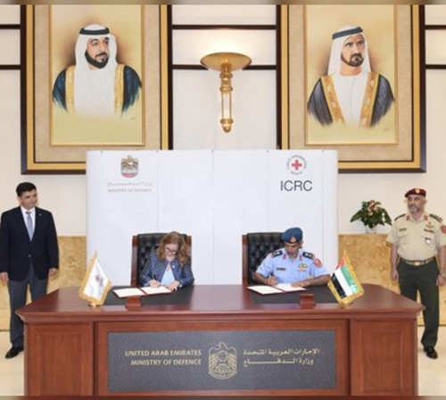 UAE Ministry of Defense, ICRC Sign MoU