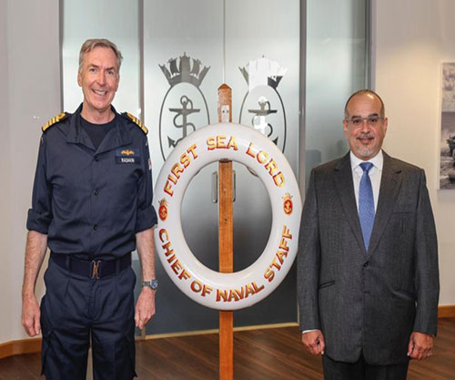 UK's First Sea Lord & Chief of Naval Staff Receives Bahrain's Crown Prince