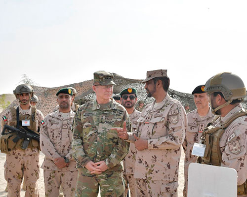US Chief of Staff Attends UAE-US Joint Military Exercise