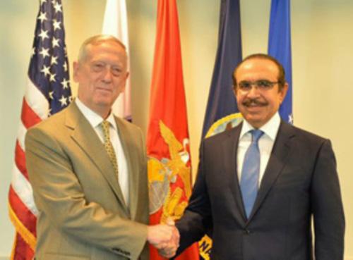 Bahrain's Interior Minister Meets US Secretary of Defense
