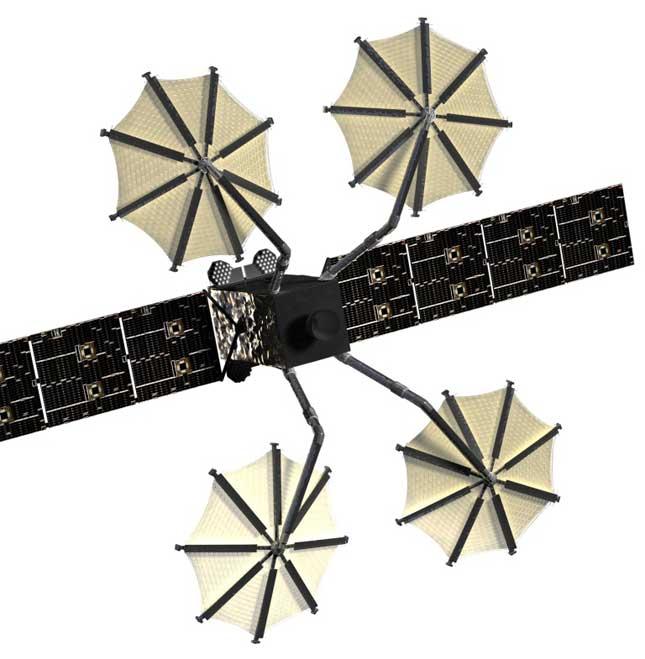 Harris Mesh Reflectors Deploy on US Navy MUOS Satellite