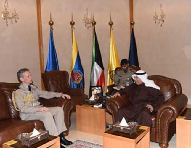 Kuwait Defense Minister Meets Britain's Chief of Air Staff