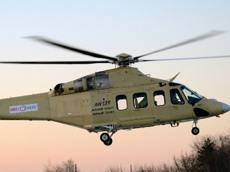 1st AW139 Assembled in Russia Performs Maiden Flight
