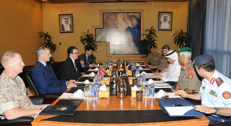 Kuwait's Defense Minister Receives Ranking US Officials
