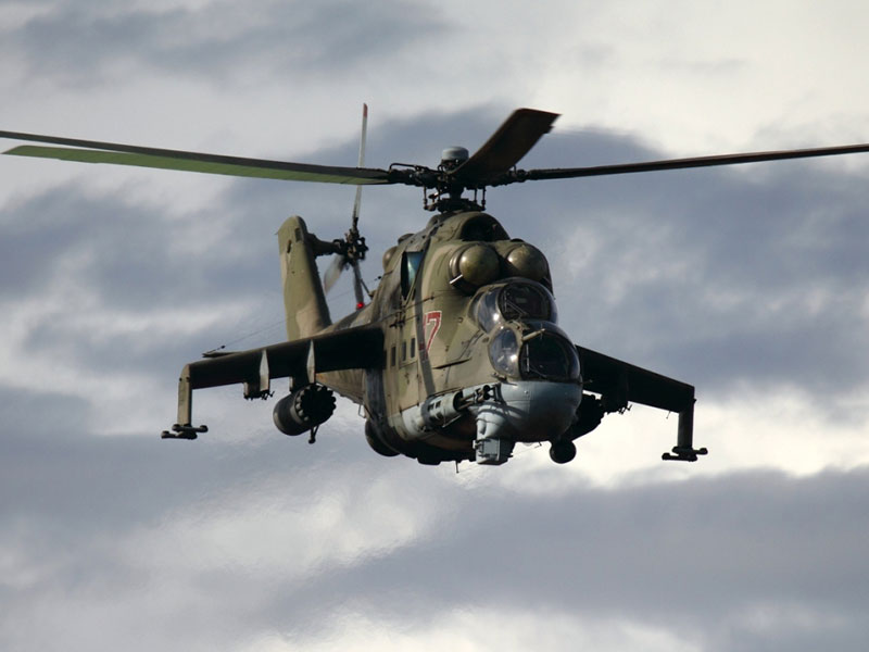 Russia Deploys Mi-24 Helicopter Gunships to Syria