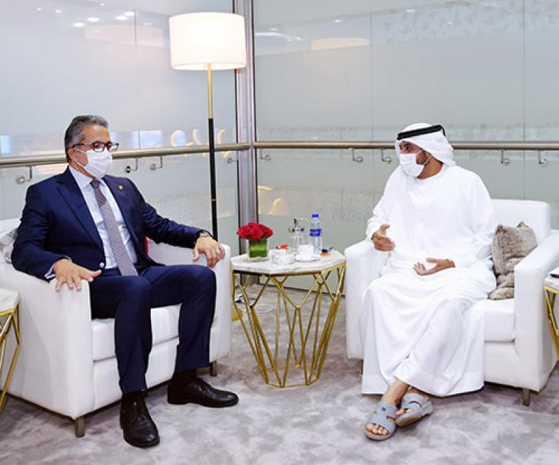 Emirates Receives Egyptian Government Delegation at Arabian Travel Market